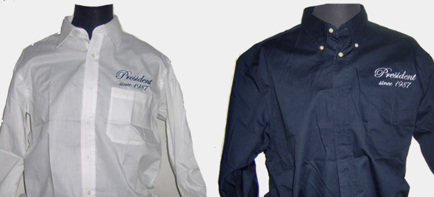 Camicia personalizzata tramite ricamo e stampa